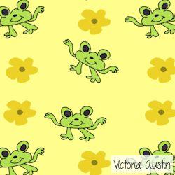 frogs digital pattern