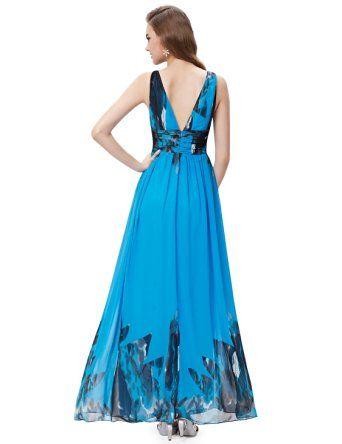 Ever Pretty Sleeveless V-Neck Semi-Formal Maxi Dress 09016 at Amazon Women's…