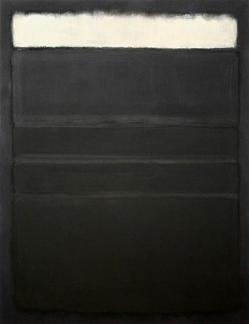 Rothko  As he grew older he became more depressed his colors eventually going from warms to blues then to blacks - during this period he was full of suicidal ideation