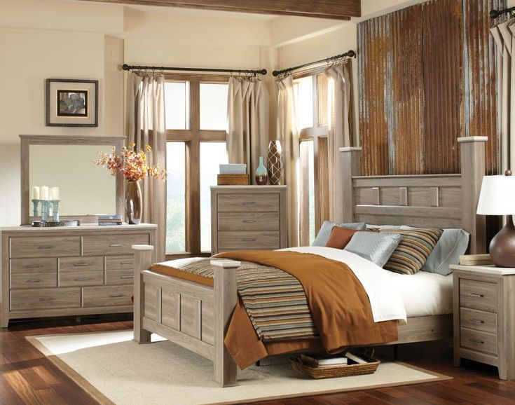 the stonehill bedroom collection by standard furniture has a casual character with its bold proportions weathered oak finish and cool concrete