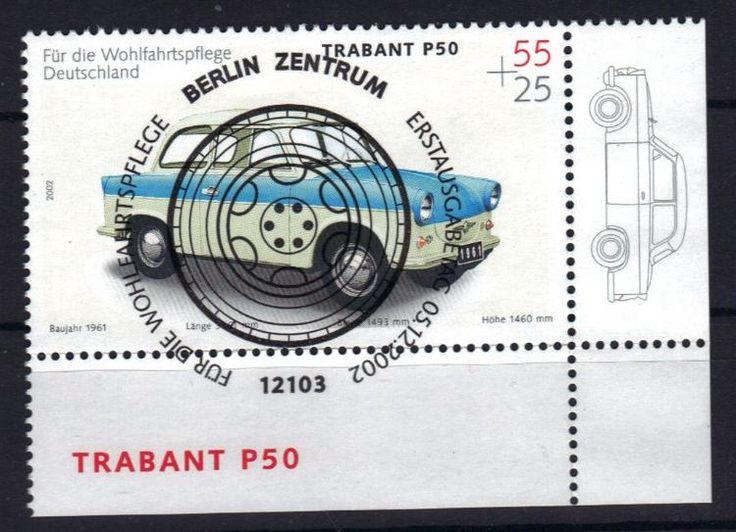 Bund 2290 (Trabant) Ecke , Vollstempel, ESST-Berlin