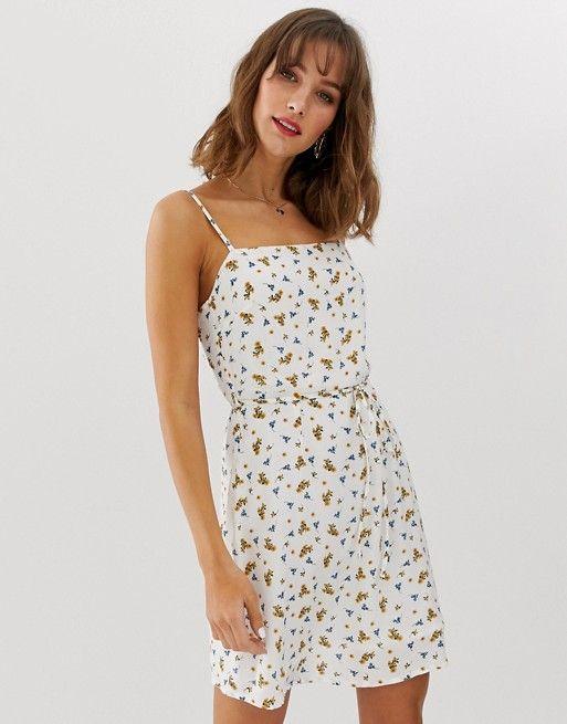 Vero Moda Floral Square Neck Mini Dress Asos Short Graduation Dresses Mini Dress Fashion