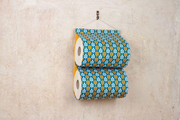 Toilettenpapierhalter aus Stoff / sewed toiletpaper holder by Finderzeit via DaWanda.com
