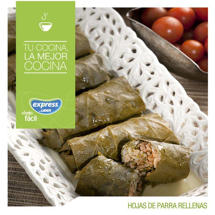 Hojas de parra rellenas  #Recetario #Receta #RecetarioExpress #Salad #Lider #Food #Foodporn #Parra #Rellenas