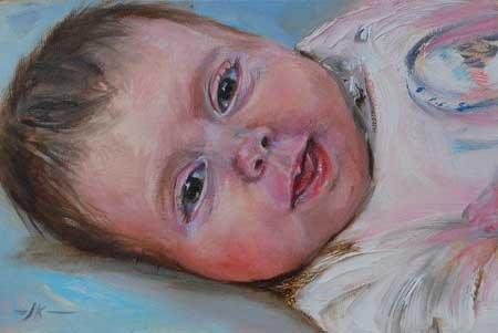Kinder portretten | Olieverf Schilderen.nl  size 10 x 15 cm