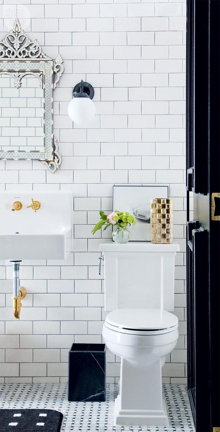 Basement renovation: Glamorous expanded bathroom {PHOTO: Ashley Capp}