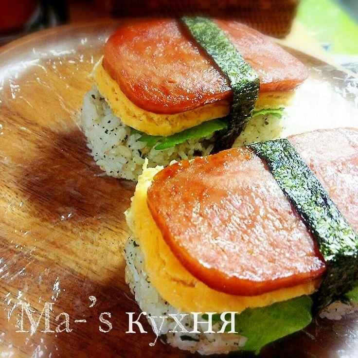 レシピあり!みきさんのタレde卵と大葉のスパムおにぎり   ミキオさんのお料理 ペコリ by Ameba - 手作り料理写真と簡単レシピでつながるコミュニティ -