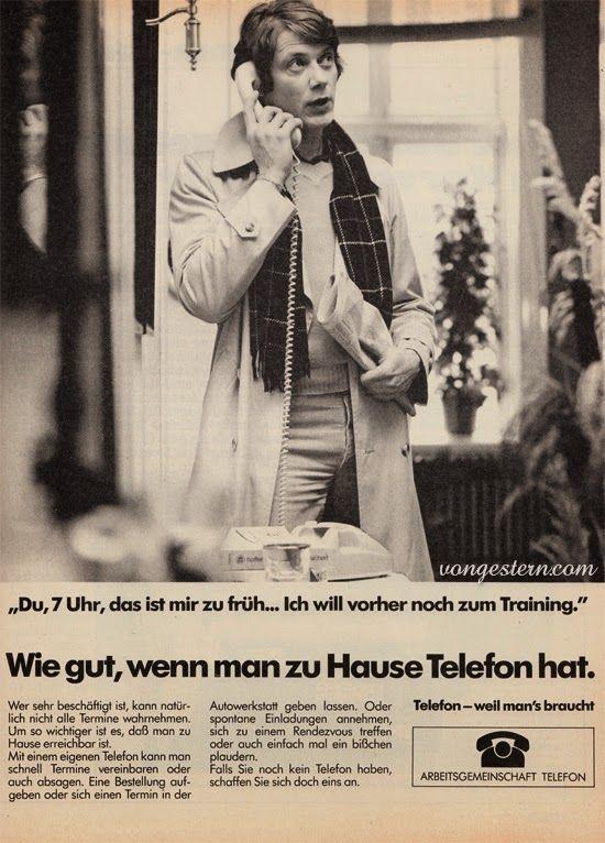 Unglaublich: Werbung für einen Telefonanschluss. Noch gar nicht sooo lange her | vongestern Blog: 1979