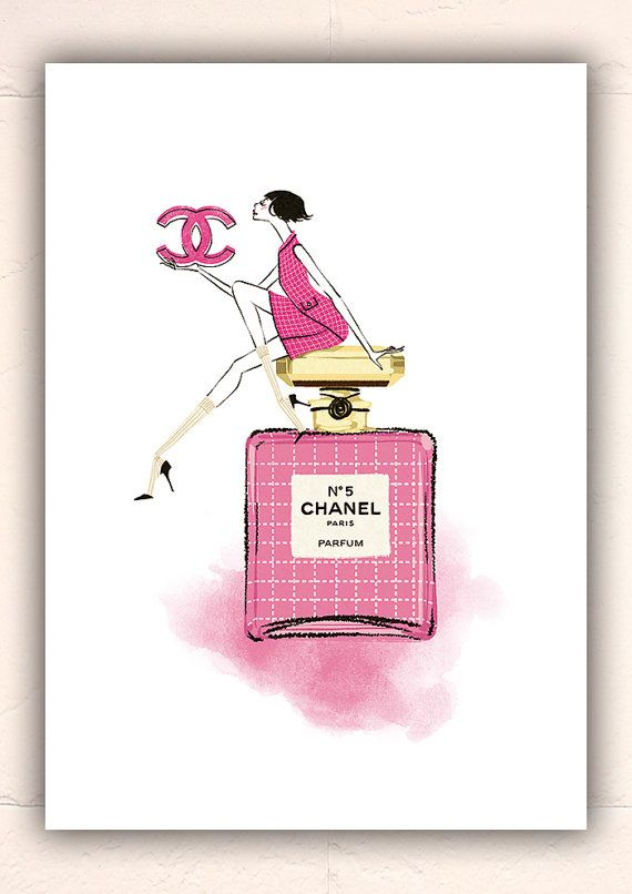 Chanel No.5 illustration Fashion
