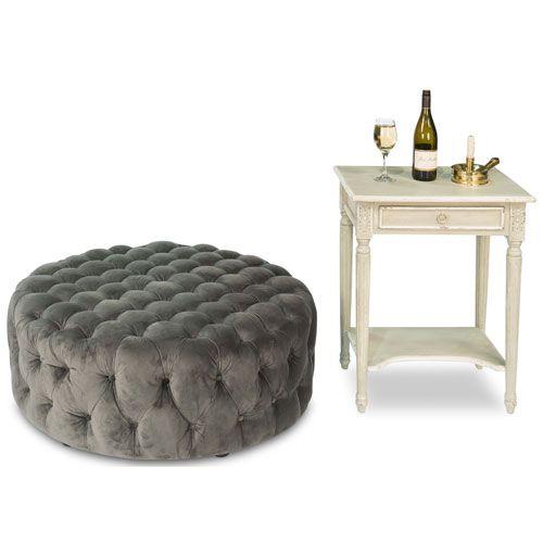 Manda Fabric Coffee Table, Grey