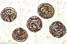 Swirled Chocolate Lollipops - (c) 2015 Elizabeth LaBau