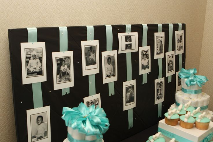 Mommy/Daddy baby pic board @ a Tiffany & Co. Inspired baby shower