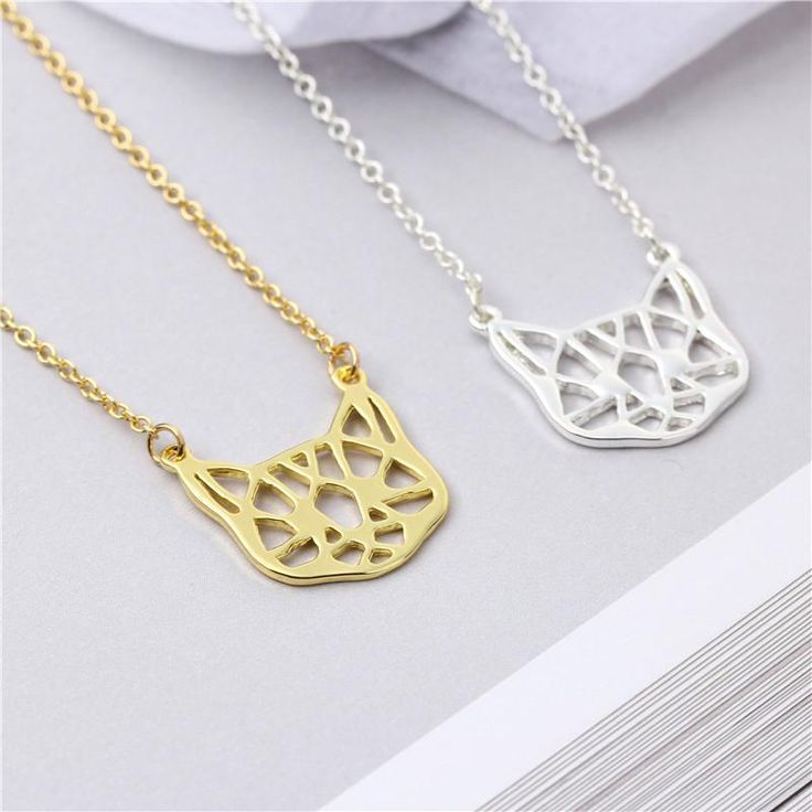 Origami Cat face Necklace $19.00   #kitties #cat #meow #mainecoon #kittens #cutecat #cats #catlover #kitten #kitty Item Type: NecklacesFine or Fashion: FashionChain Type: Link ChainNecklace Type: Pendant NecklacesStyle: TrendyGender: WomenShape\pattern: AnimalPendant Size: As the photo showMaterial: Metal