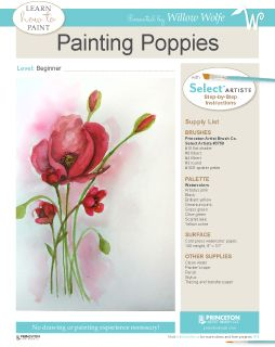 Learn to paint these beautiful poppies by Jamie Dougherty at www.willowwolfe.ca.