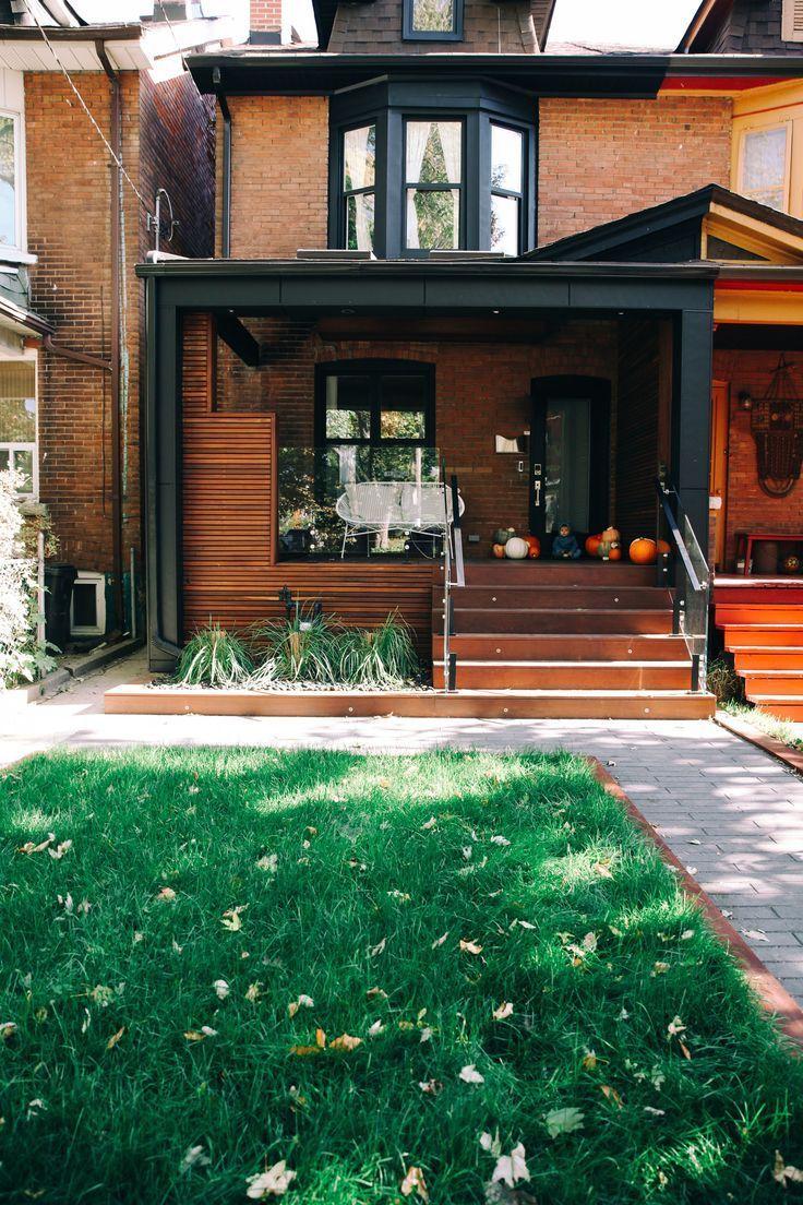 Our Modern Toronto Porch Reveal Brick Exterior House Red Brick House Exterior House With Porch
