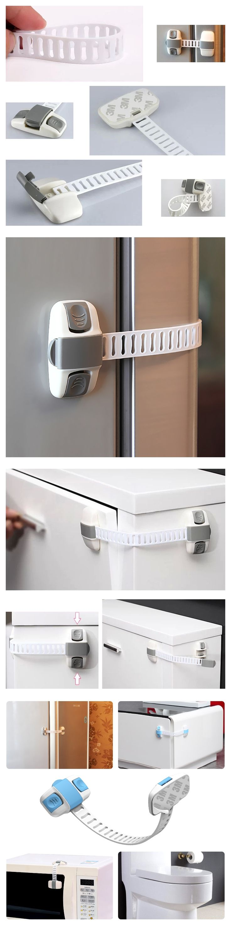 Child safety lock Children 's cupboard drawer baby security lock infant safety long lock refrigerator lock with 6PCS