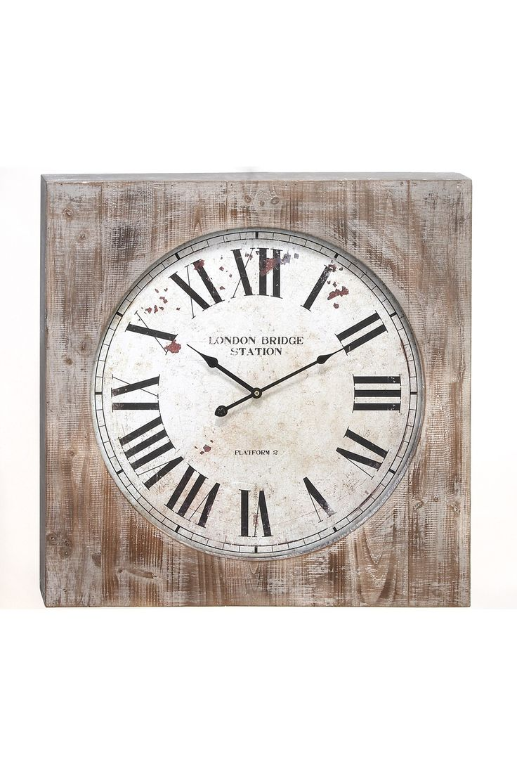 Am americana country wall clocks - Rustic Vintage London Bridge Station Wall Clock