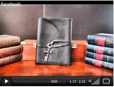 How Divina Denuevo makes Leather Journals - more on www.divina-denuevo.com