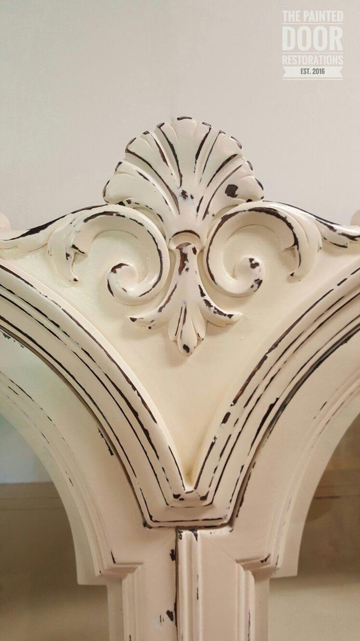 Antique Claw Foot China Cabinet  www.thepainteddoorrestorations.com  www.facebook.com/thepainteddoorrestorations  www.instagram.com/thepainteddoorrestorations  Pinterest: The Painted Door Restorations  #paintedfurniture #cottagepaint #cottagewhite #distressed #distress #upcycled #upcycledfurniture #burledwood #burled #clawfeet #clawfoot #chinacabinet #chinahutch