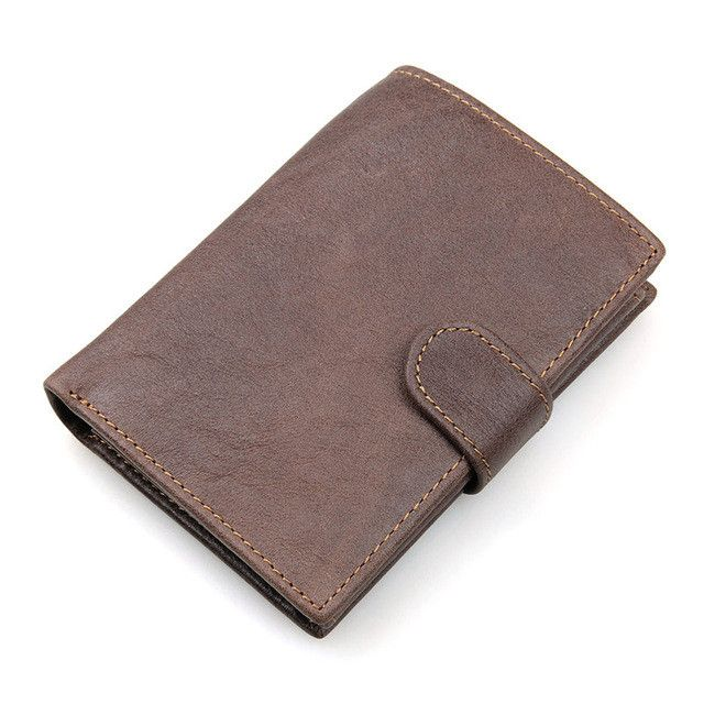 JMD 100% Genuine Leather men Wallet RFID ID Identity Credit Card Blocking Leather Wallet