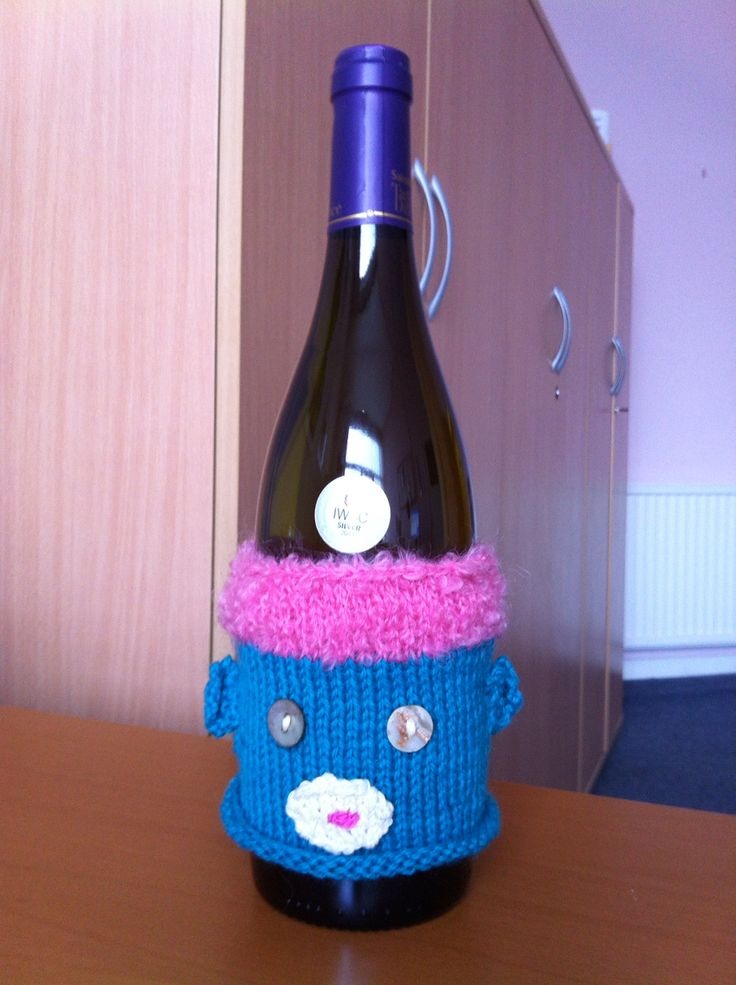 Sock wine monkey