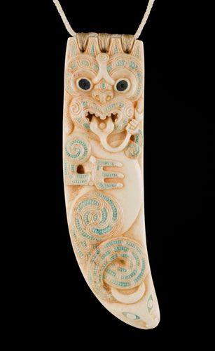 Marakihau • Sea Guardian Pendant by Stacy Gordine, Māori artist (K60901)