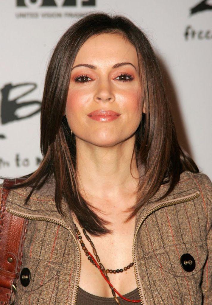 Alyssa Milano hairstyle