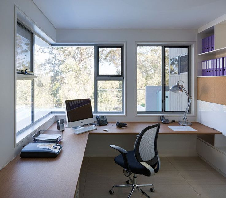 7 Examples Of Corner Windows With Picturesque Views // This Home Office In  An Australian House, Has Picturesque Views Of The Backyard And A Golf  Coarse From ...
