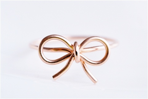tiny bow ring