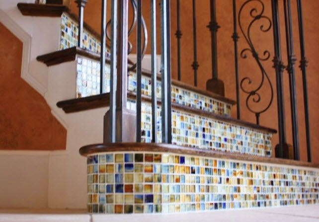 53 Best Images About Stair Riser Ideas On Pinterest