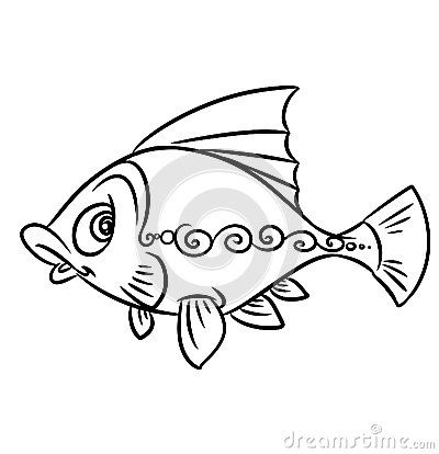 Coloring Book Pages Of Fish : 26 best fish coloring pages images on pinterest
