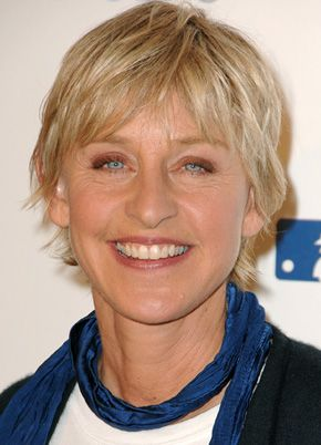 Ellen DeGeneres...She was down...then out..and never quit...now she's on top and great at it!