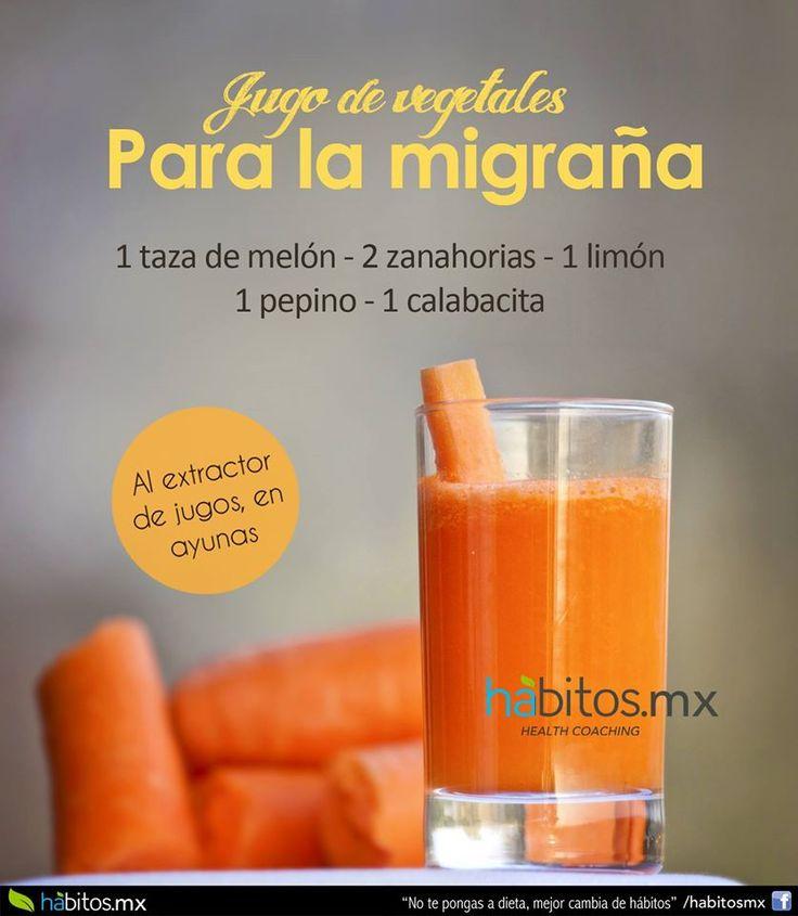 Hábitos Health Coaching | JUGO DE VEGETALES PARA LA MIGRAÑA