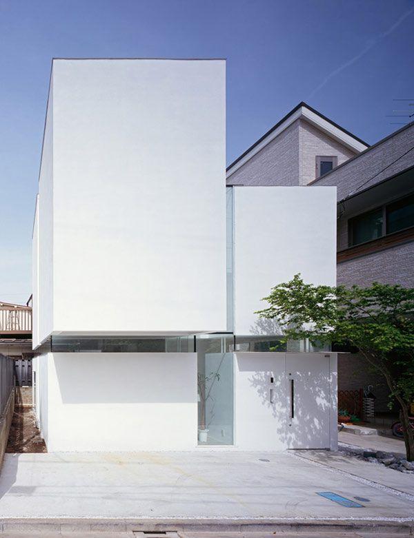 Biały dom – projekt Tetsushi Tominaga Architect & Associates - archimania.pl – architektura, architekci – świat nowoczesnej architektury.