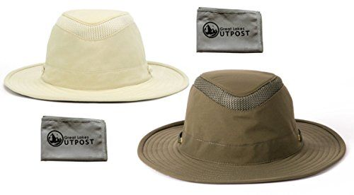Tilley LTM6 Airflo Hat with Mesh Bundle with Cloth  Bundle Include: (1) Tilley LTM6 Airflo Hat and (1) Microfiber Cloth  UPF 50+  Anti-Glare  Ventilation  Buoyant