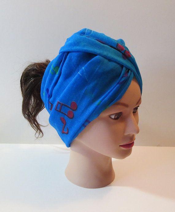BlueTurban Hairwrap Infinity Scarf with Musical by TiStephani, $22.00
