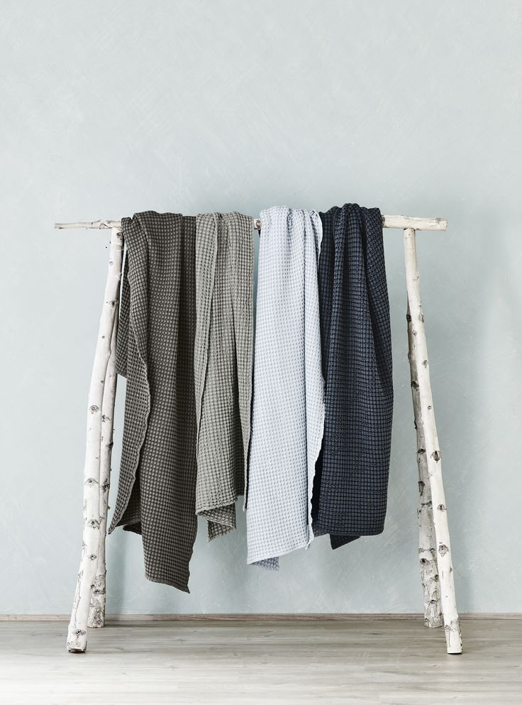 Waffle stonewash throws, AURA Home, SS16/17 collection