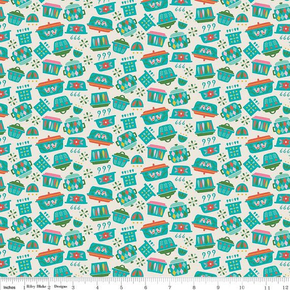 Vintage Kitchen Fabric By Riley Blake: Pots U0026 Pans