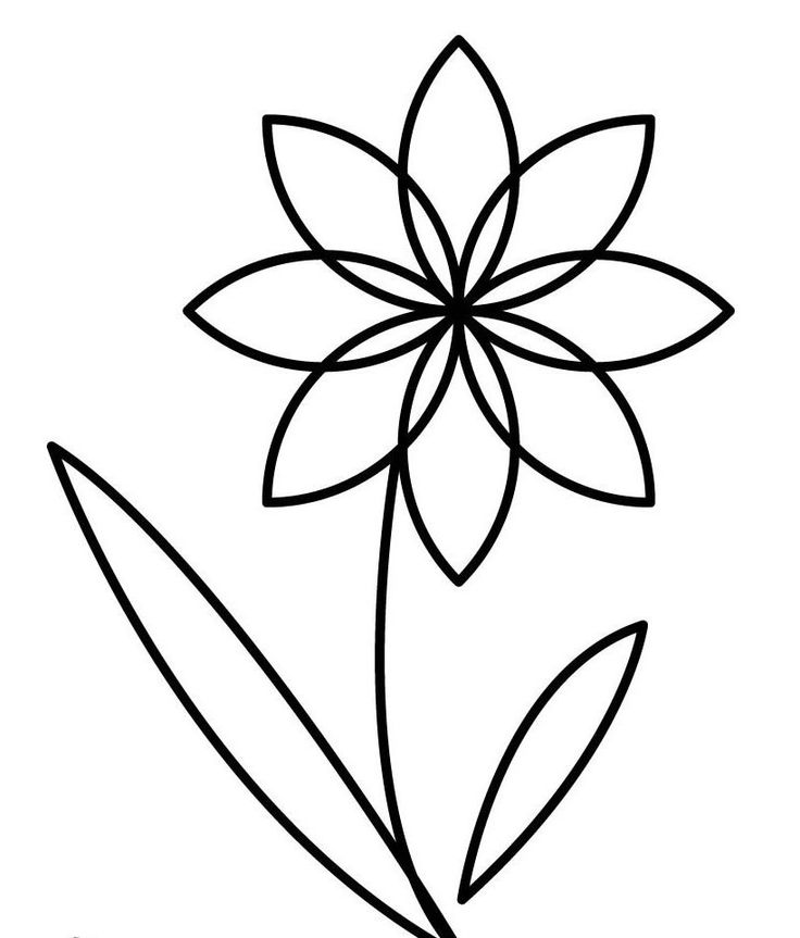small flower coloring pages - photo#30