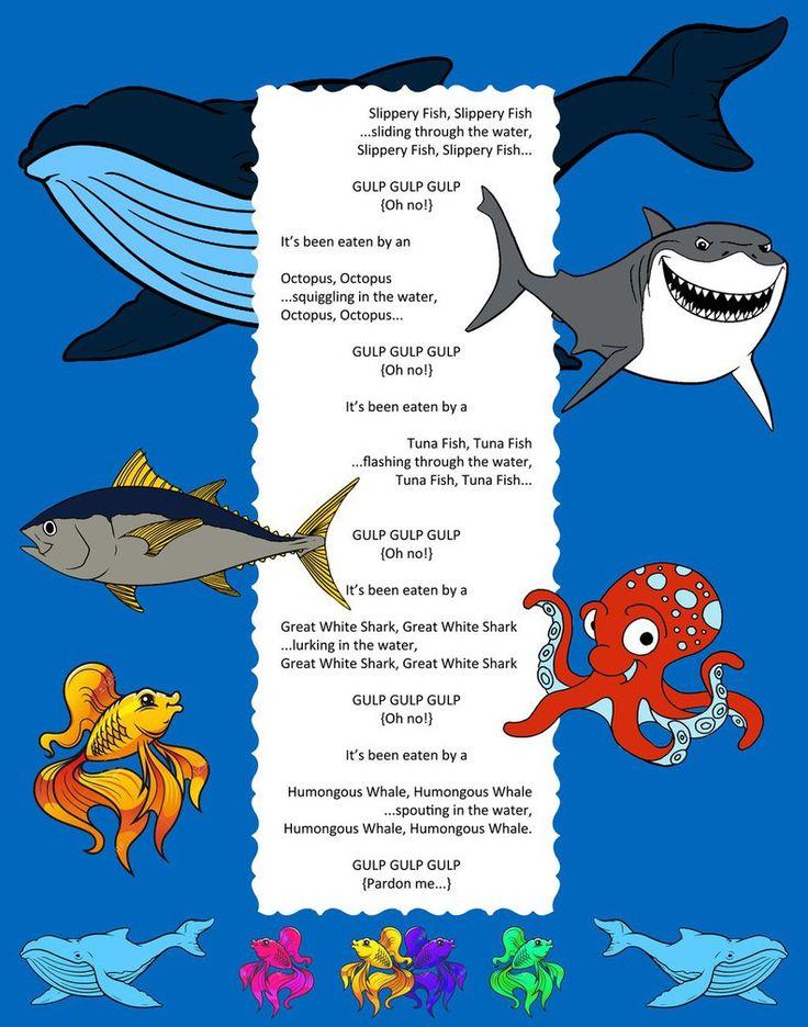Slippery Fish Song   Slippery fish song, Ocean theme ...