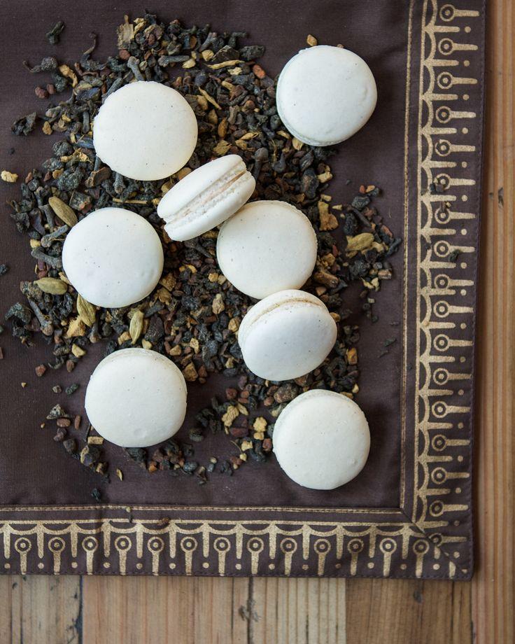 Vanilla Bean Chai Macarons   Thirsty for Tea