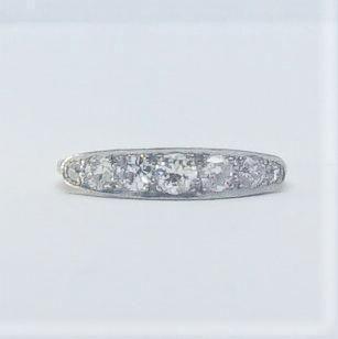 Seven Stone Diamond Yellow Gold And Platinum Ring