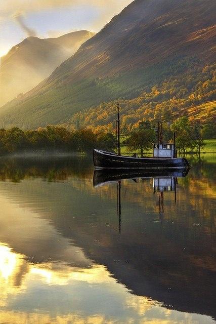 Autumn Lake, West Highlands, Scotland
