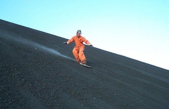 What is Volcano Surfing? #thrillthrush #ThrushoPedia #ExtremeAdventure #VolcanoSurfing #letsgoeverywhere #travelgram #travelbreak #intrepidtravel  #travelphotos #bestintravel #travelforever #vscotravel #welivetoexplore #travelzoo #lifeofadventure #adventureseeker #passportready #tasteintravel
