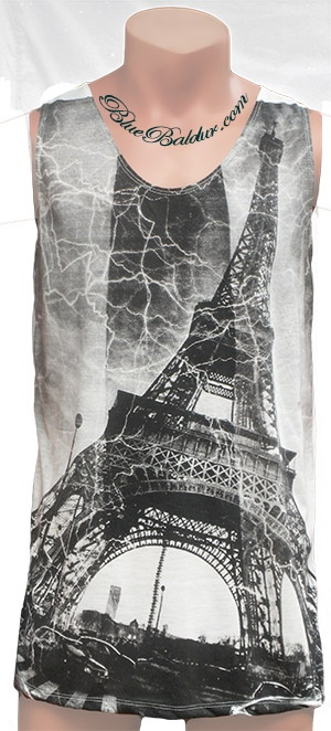 The Eiffel Tower Tank Top Singlet by MONOMANIA.