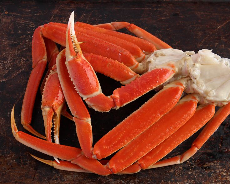 """Snow Crab Leg Clusters 10Lbs $128.00 The Snow Crab is found in the Bering Sea and is one of the largest crab fisheries in the United States. Alaskan Snow Crab Legs can often look like King Crab Legs, but are distinguished by being a smaller size and not being covered in spikes like the King Crab. The meat has a very light and delicious flavor that is favored by many throughout the US and the world. Alaskan Snow Crab became a very popular product after the TV show """"Deadliest Catch"""" aired."""