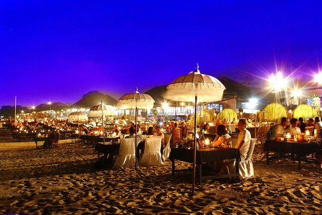 Bali :: Jimbaran beach Seafood restaurants :: by Kenny Teo (zoompict), via Flickr