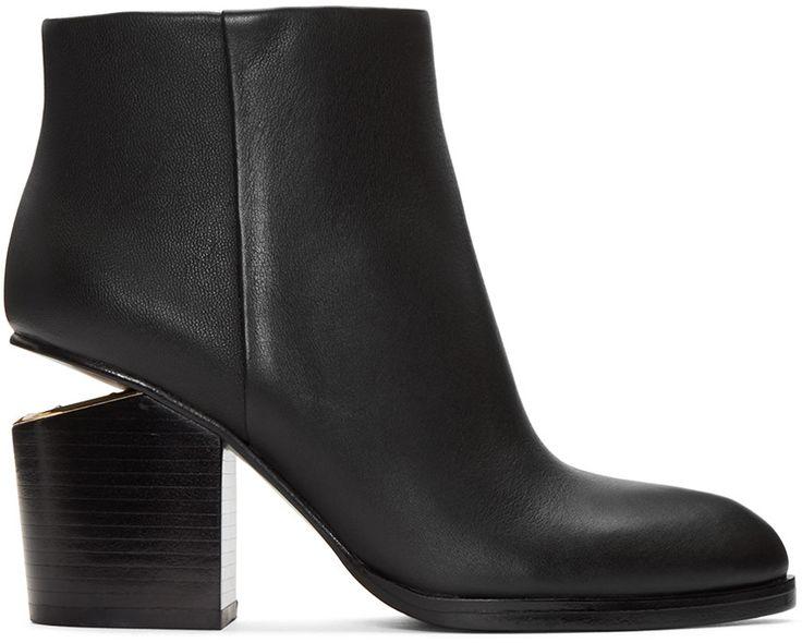 ALEXANDER WANG Black Gabi Boots. #alexanderwang #shoes #boots