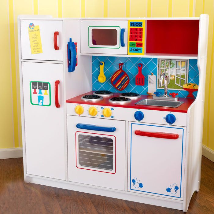 Kidkraft Deluxe Let S Cook Play Toy Kitchen 53139