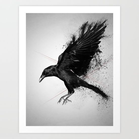 Crow Art Print by Adam Flynn. Worldwide shipping available at Society6.com. Just one of millions of high quality products available.